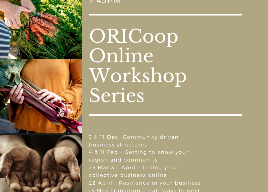 ORICoop Online Workshop Series launches